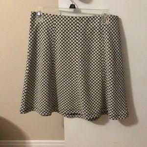 LOFT chevron skirt